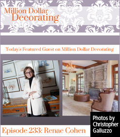 Renae Cohen, guest on Million Dollar Decorating